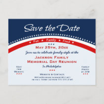Memorial Day Family Reunion, Party, Save the Date Announcement Postcard