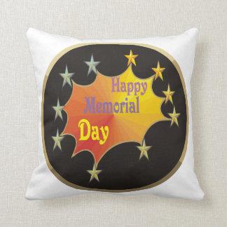 Memorial Day feliz Almohada
