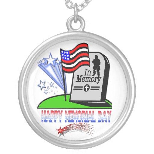 Memorial Day feliz - collar de la lápida mortuaria