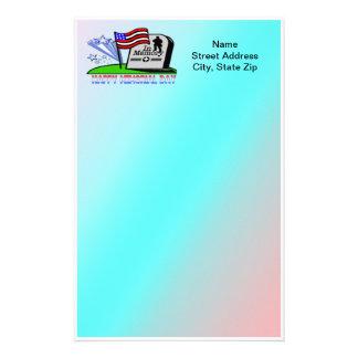Memorial Day feliz - efectos de escritorio de la l Personalized Stationery