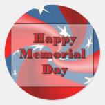 Memorial Day feliz Pegatinas Redondas
