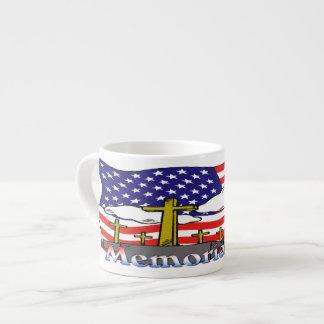 Memorial Day - Flag Gravestone Espresso Mug