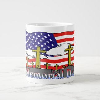 Memorial Day - Flag Gravestone Jumbo Mug