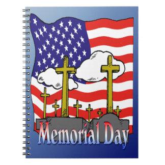 Memorial Day - Flag Gravestone Notebook
