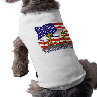 Memorial Day - Flag Gravestone Pet Clothing