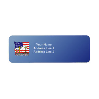 Memorial Day - Flag Gravestone Return Address Labe Return Address Label