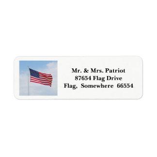 Memorial Day Flag label 2017