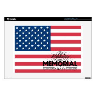 Memorial Day Flag Laptop Skins