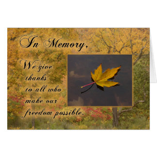 Memorial Day Floating Leaf card
