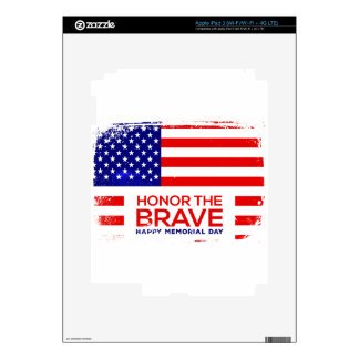 Memorial Day grunge Skins For iPad 3
