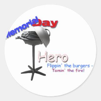 Memorial Day Hero Classic Round Sticker