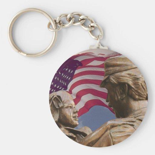 Memorial Day Homecoming Key Chain