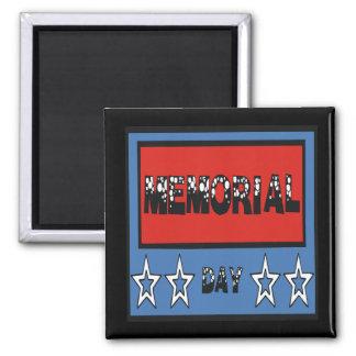 Memorial Day Imán Cuadrado