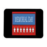 Memorial Day Imanes Rectangulares