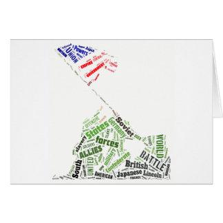 Memorial Day (Iwo Jima Flag Raising) in Tagxedo Card