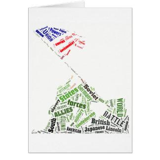Memorial Day (Iwo Jima Flag Raising) in Tagxedo Greeting Cards