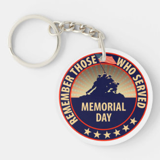 Memorial Day Keychain