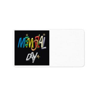 Memorial Day Address Label