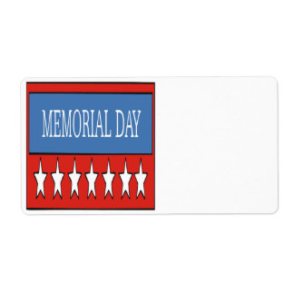 Memorial Day Shipping Label