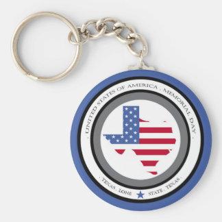 memorial day lone star state texas usa basic round button keychain