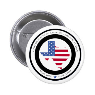 memorial day lone star state texas usa button