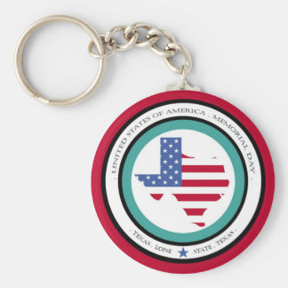 memorial day lone star state texas usa keychain