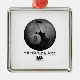 Memorial Day Metal Ornament