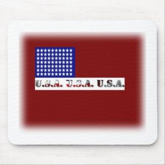 Memorial Day moderno del gráfico de la bandera de  Tapetes De Ratones