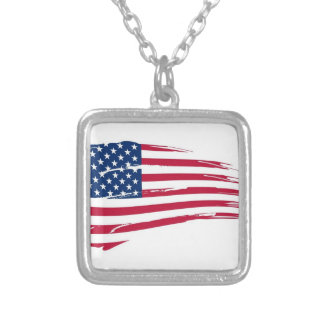 Memorial Day n3 Square Pendant Necklace