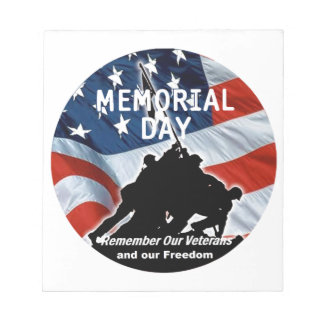 Memorial Day Note Pad