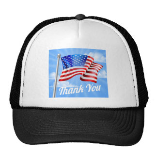Memorial Day or Veterans Day Thank You American Trucker Hat