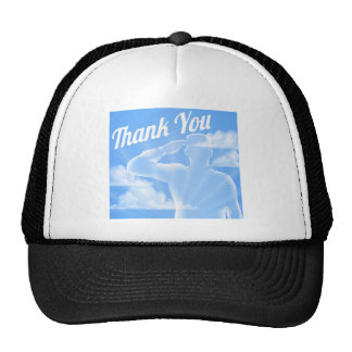 Memorial Day or Veterans Day Thank You Design Trucker Hat