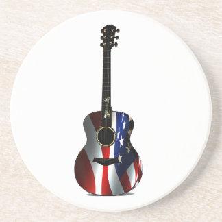 Memorial Day patriótico de la guitarra de la bande Posavasos Para Bebidas