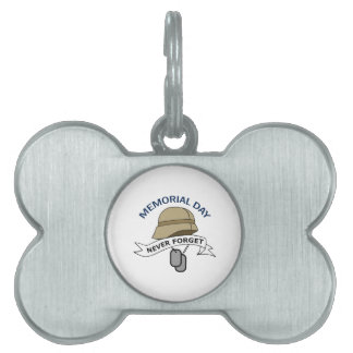MEMORIAL DAY PET ID TAGS
