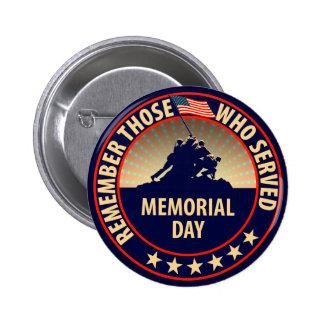 Memorial Day Pin Redondo De 2 Pulgadas