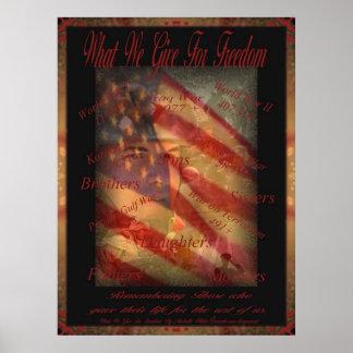 Memorial Day qué damos para el poster de la libert