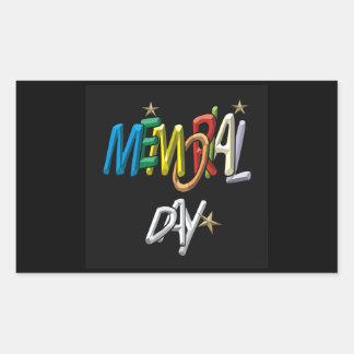 Memorial Day Rectangular Sticker