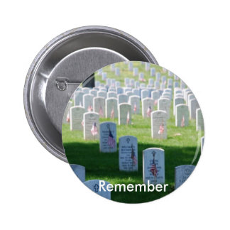 Memorial Day Remember Pinback Buttons