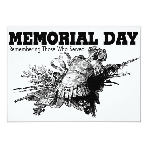Memorial Day Remembering Those Who Served Card