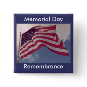 Memorial Day Remembrance button