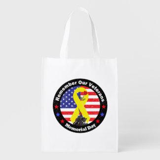 memorial Day Reusable Grocery Bag