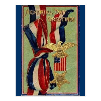 Memorial Day Ribbons Postcard