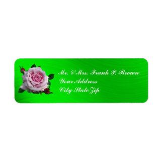 MEMORIAL DAY ROSE- RETURN ADDRESS LABELS