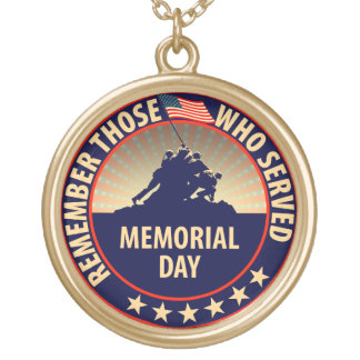 Memorial Day Round Pendant Necklace