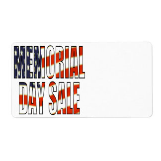 Memorial Day Sale Label