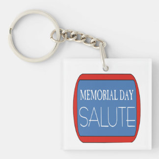 Memorial Day Salute 1 png Acrylic Keychain