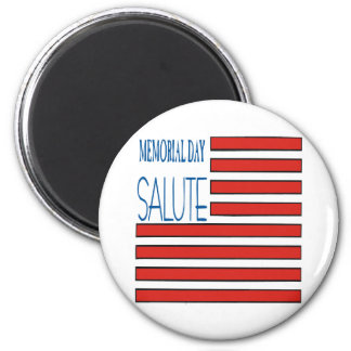 Memorial Day Salute 2 Inch Round Magnet