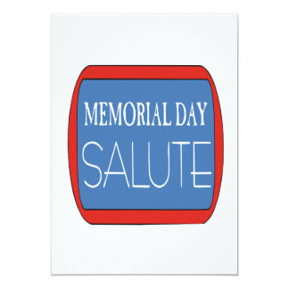Memorial Day Salute Card