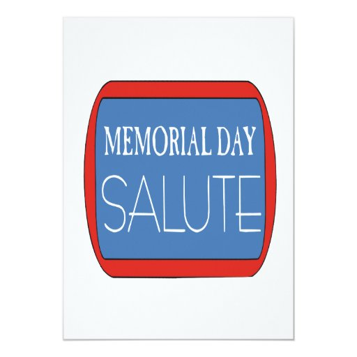 Memorial Day Salute Personalized Announcement