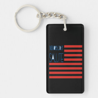 Memorial Day Salute png Rectangle Acrylic Key Chains